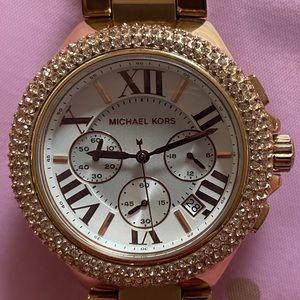 Michael Kors Women's Rose Gold-Tone Bracelet Watch